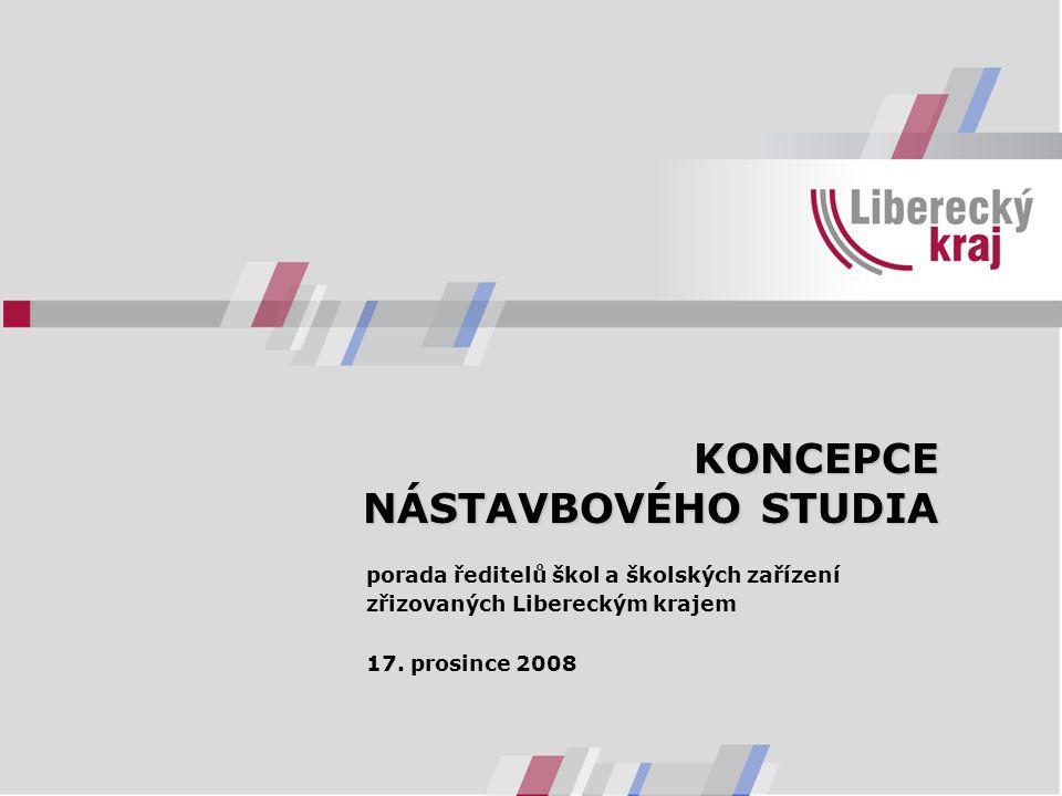KONCEPCE NÁSTAVBOVÉHO STUDIA porada ředitelů škol a školských zařízení zřizovaných Libereckým krajem 17. prosince 2008