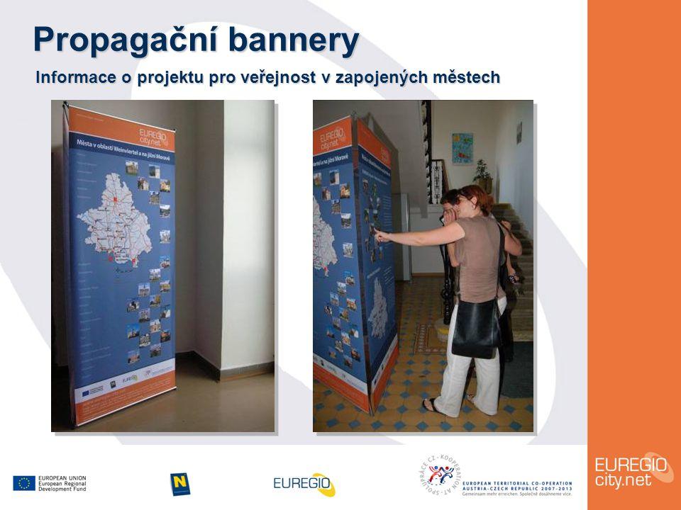 Propagační bannery Informace o projektu pro veřejnost v zapojených městech