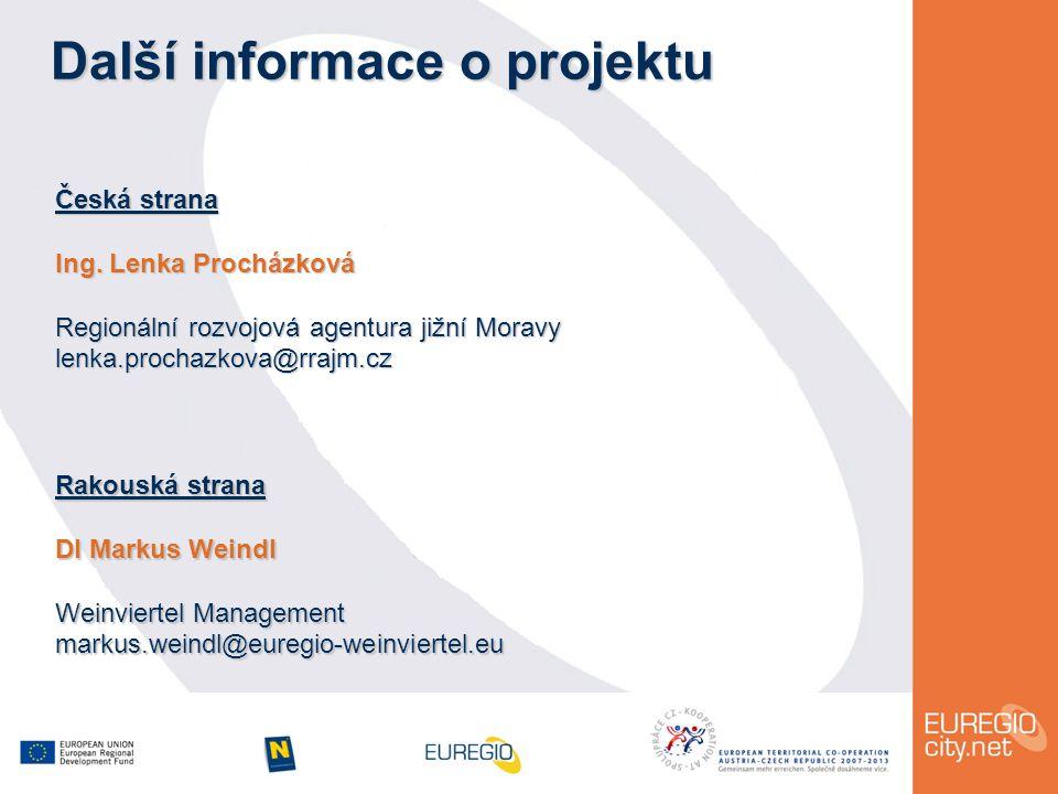 Další informace o projektu Česká strana Ing.