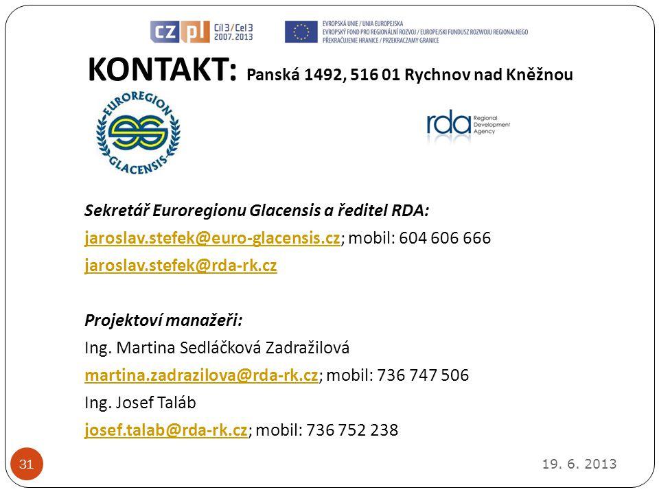 KONTAKT: Panská 1492, 516 01 Rychnov nad Kněžnou 19.