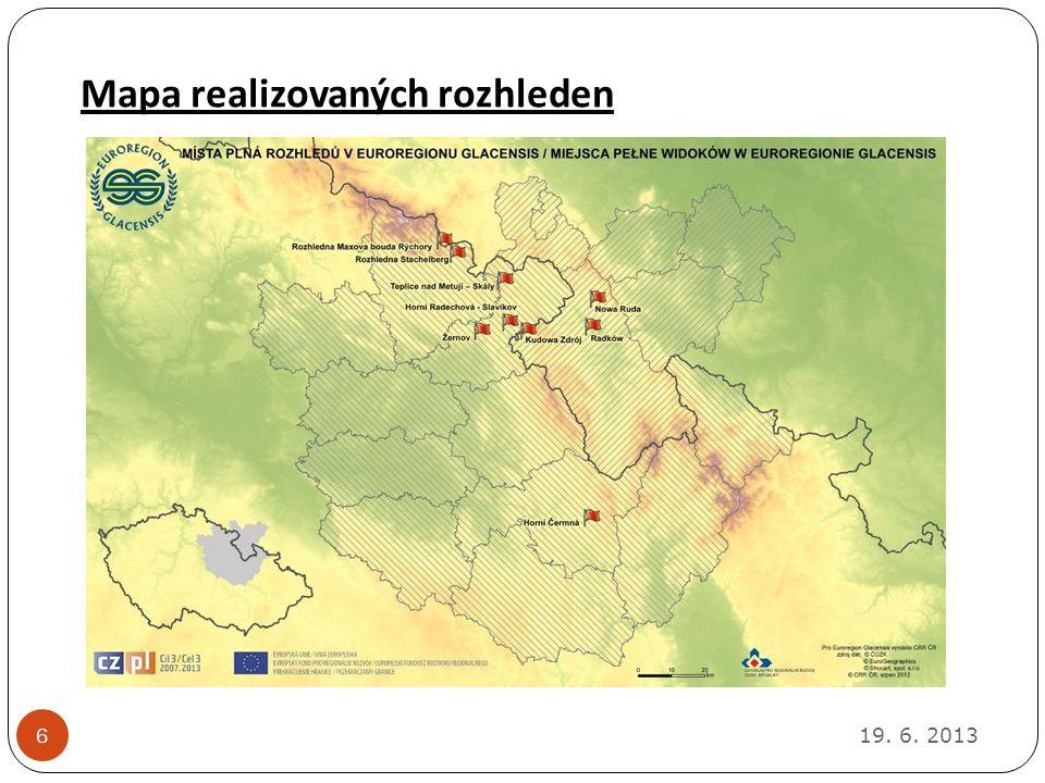 Mapa realizovaných rozhleden 19. 6. 2013 6