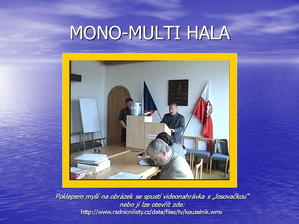 """MONO-MULTI HALA Poklepem myší na obrázek se spustí videonahrávka s """"losovačkou"""" nebo ji lze otevřít zde: http://www.radnicnilisty.cz/data/files/tv/kou"""