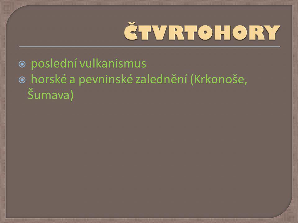  Karpaty a Česká vysočina – oddělena úvaly