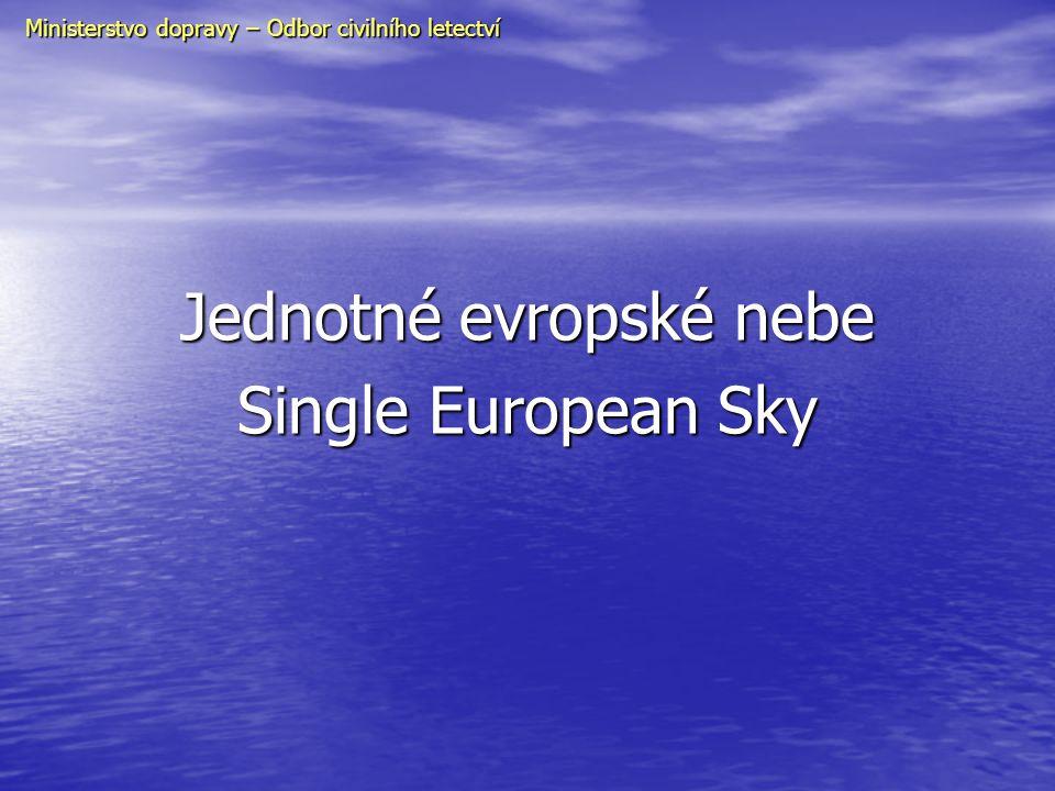 Ministerstvo dopravy – Odbor civilního letectví Jednotné evropské nebe Single European Sky