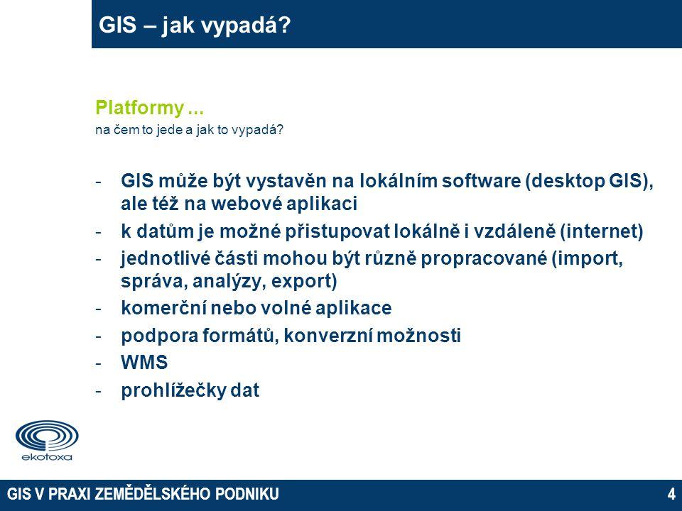 GIS V PRAXI ZEMĚDĚLSKÉHO PODNIKU4 GIS – jak vypadá.