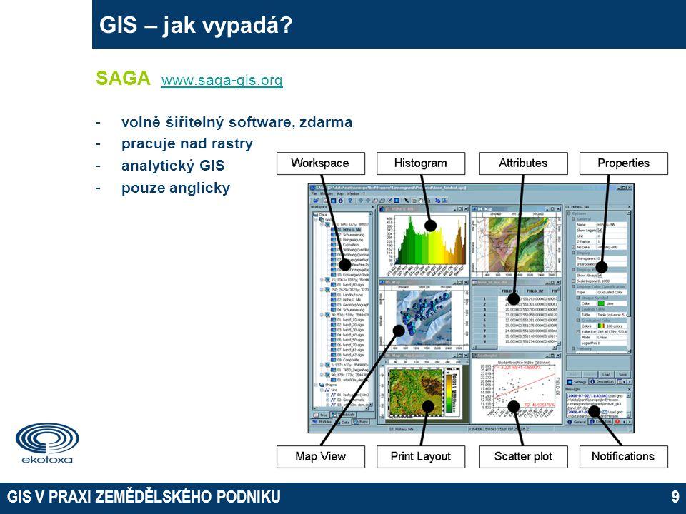 GIS V PRAXI ZEMĚDĚLSKÉHO PODNIKU9 GIS – jak vypadá.