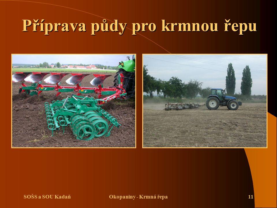SOŠS a SOU KadaňOkopaniny - Krmná řepa11 Příprava půdy pro krmnou řepu