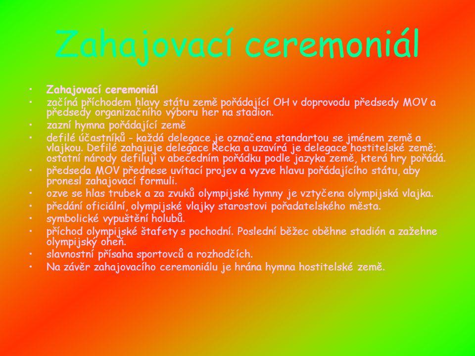 Menu Zahajovací ceremoniál Historie Olympijský oheň Sportovci za česko Zimní a letní hry Zajímavosti Mí maskoti Závěrečný ceremoniál Konec