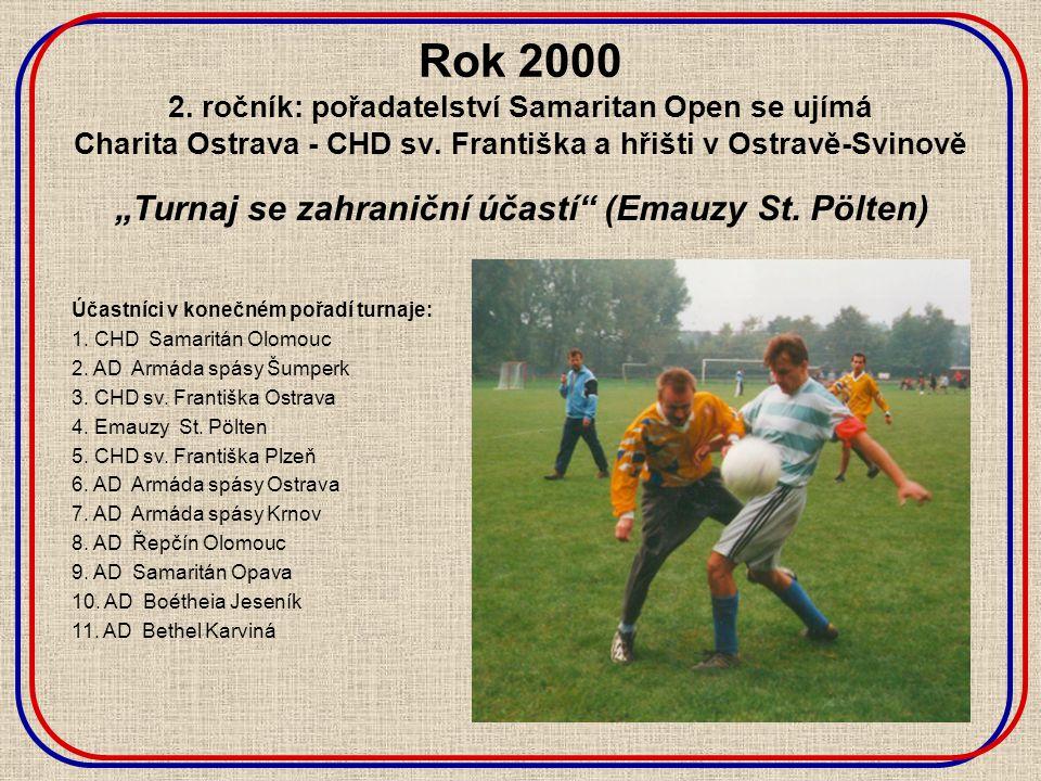 Rok 2000 2. ročník: pořadatelství Samaritan Open se ujímá Charita Ostrava - CHD sv.