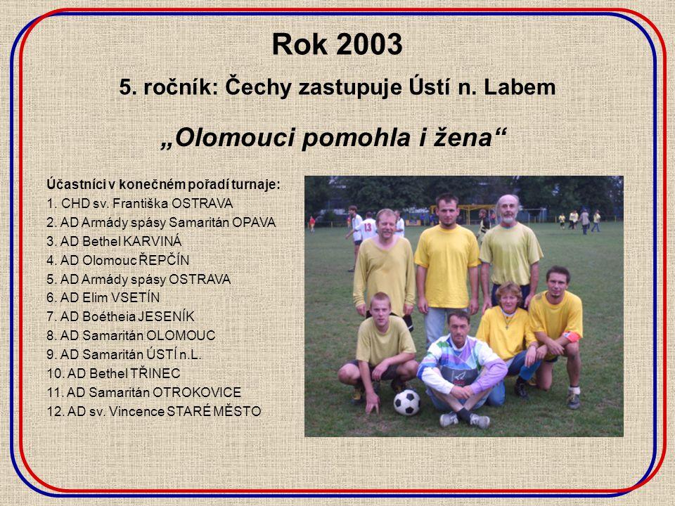 Rok 2003 5. ročník: Čechy zastupuje Ústí n.
