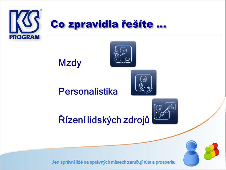 ČSN EN ISO 9001 : 2001 Standard ISVS pro náležitosti životního cyklu Standard ISVS pro informační systémy v oblasti personální a platové Jen správní lidé na správných místech zaručují růst a prosperitu Máte to potvrzeno...