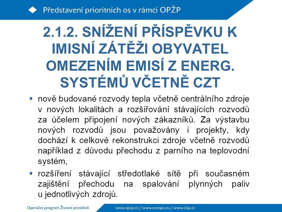 2.1.2.SNÍŽENÍ PŘÍSPĚVKU K IMISNÍ ZÁTĚŽI OBYVATEL OMEZENÍM EMISÍ Z ENERG.