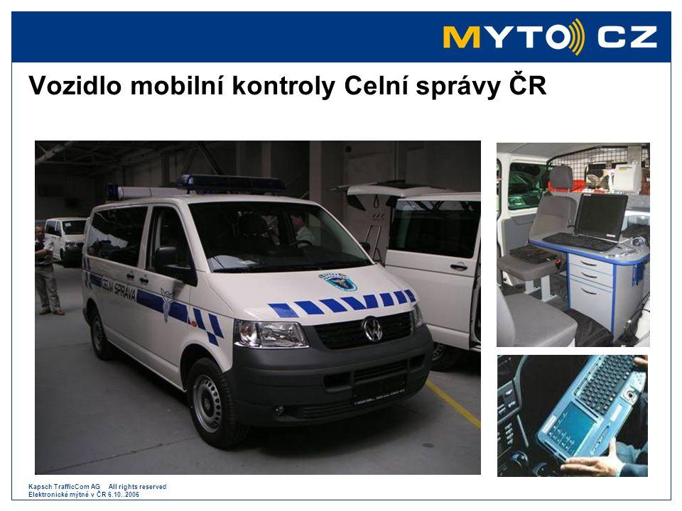 Kapsch TrafficCom AG All rights reserved Elektronické mýtné v ČR 6.10..2006 Sazby mýtného pro silnice I.