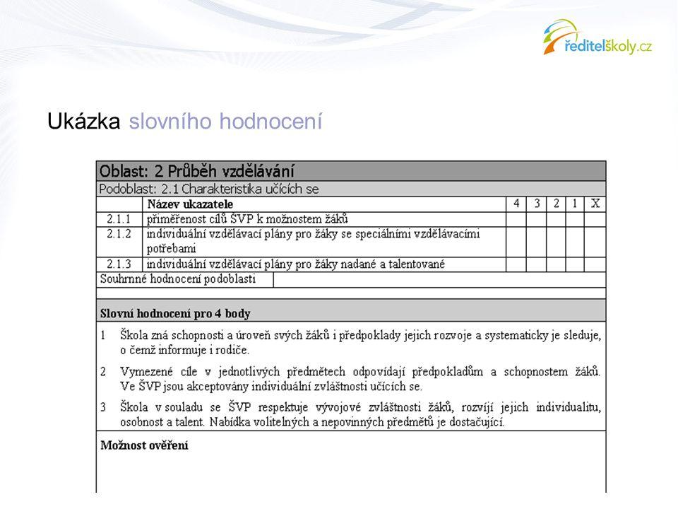 Ukázka slovního hodnocení