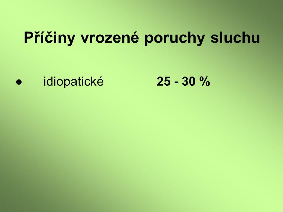 ●idiopatické25 - 30 %