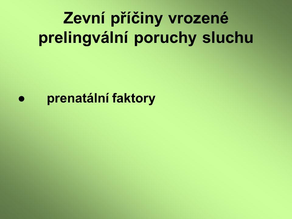 ●prenatální faktory