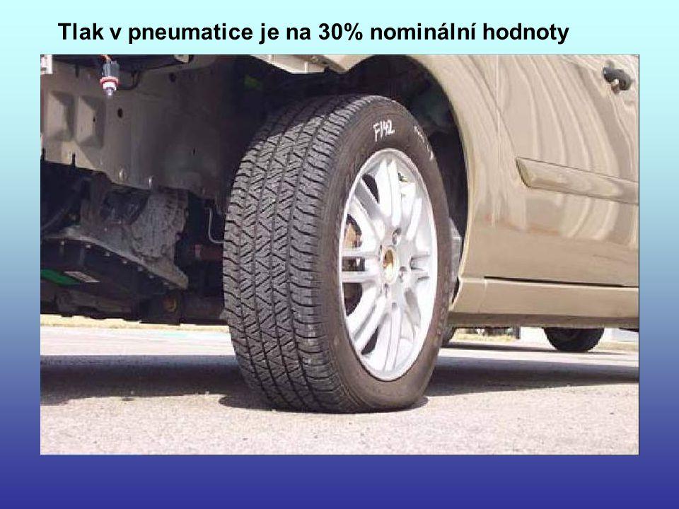 Tlak v pneumatice je na 30% nominální hodnoty