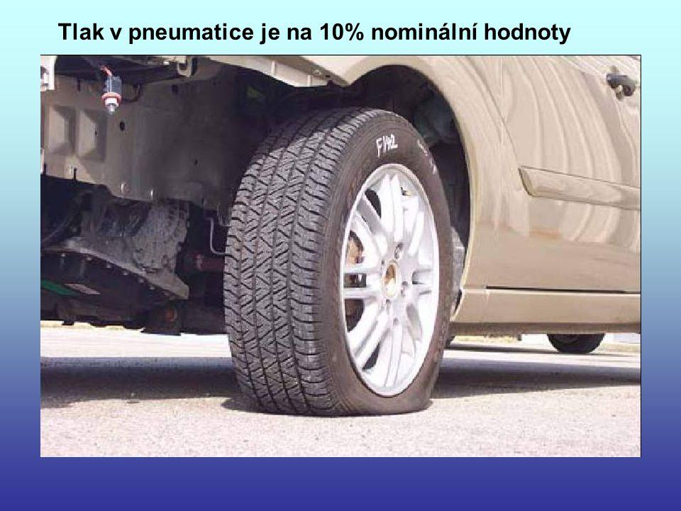 Tlak v pneumatice je na 10% nominální hodnoty