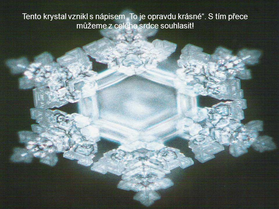 """Tento krystal vznikl s nápisem """"To je opravdu krásné . S tím přece můžeme z celého srdce souhlasit!"""