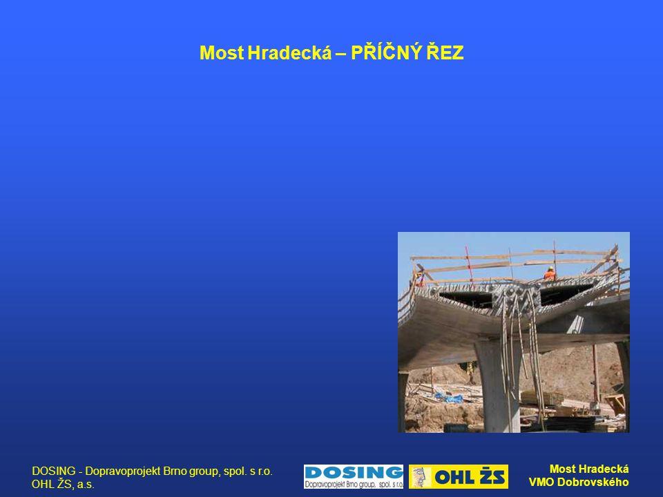 DOSING - Dopravoprojekt Brno group, spol. s r.o. OHL ŽS, a.s. Most Hradecká VMO Dobrovského Most Hradecká – PŘÍČNÝ ŘEZ