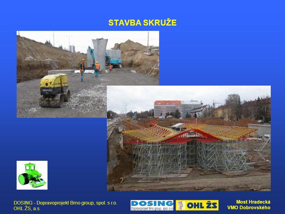 DOSING - Dopravoprojekt Brno group, spol. s r.o. OHL ŽS, a.s. Most Hradecká VMO Dobrovského STAVBA SKRUŽE