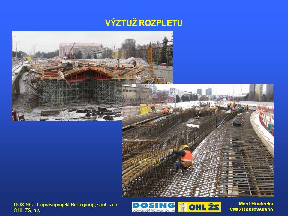DOSING - Dopravoprojekt Brno group, spol. s r.o. OHL ŽS, a.s. Most Hradecká VMO Dobrovského VÝZTUŽ ROZPLETU