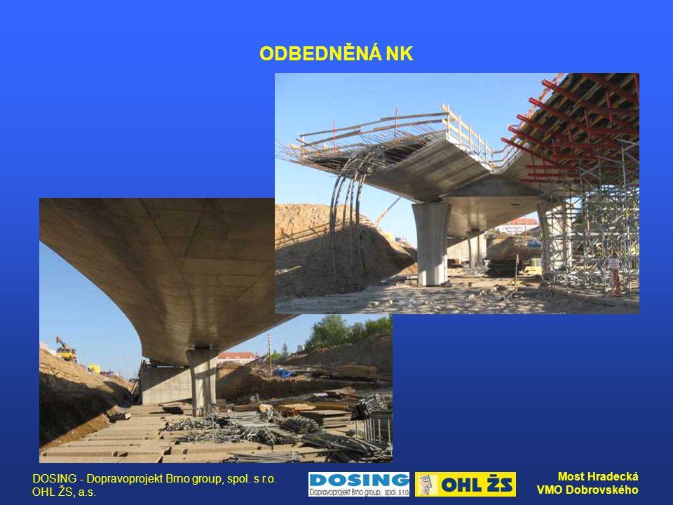 DOSING - Dopravoprojekt Brno group, spol. s r.o. OHL ŽS, a.s. Most Hradecká VMO Dobrovského ODBEDNĚNÁ NK