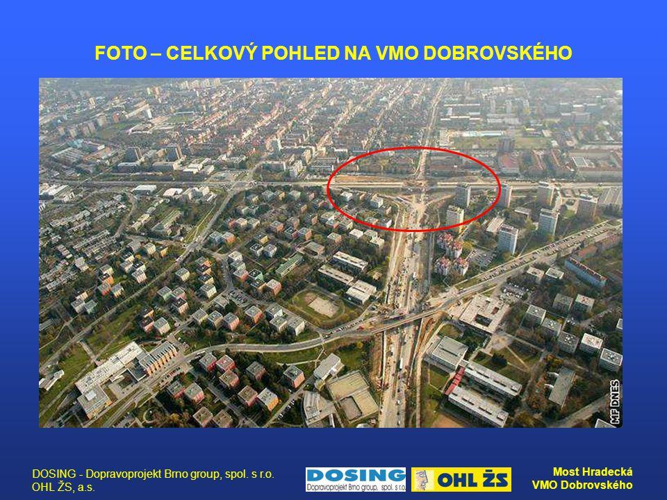 DOSING - Dopravoprojekt Brno group, spol. s r.o. OHL ŽS, a.s. Most Hradecká VMO Dobrovského FOTO – CELKOVÝ POHLED NA VMO DOBROVSKÉHO