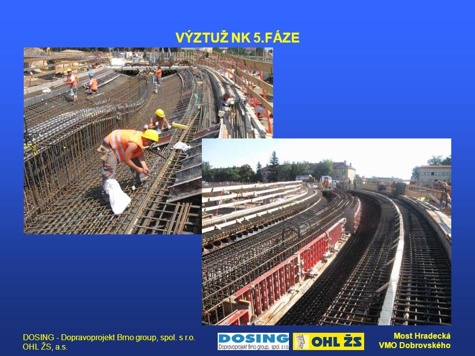 DOSING - Dopravoprojekt Brno group, spol. s r.o. OHL ŽS, a.s. Most Hradecká VMO Dobrovského VÝZTUŽ NK 5.FÁZE