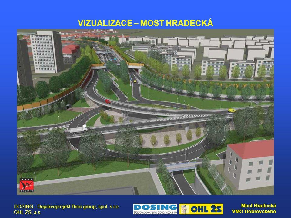 DOSING - Dopravoprojekt Brno group, spol. s r.o. OHL ŽS, a.s. Most Hradecká VMO Dobrovského VIZUALIZACE – MOST HRADECKÁ
