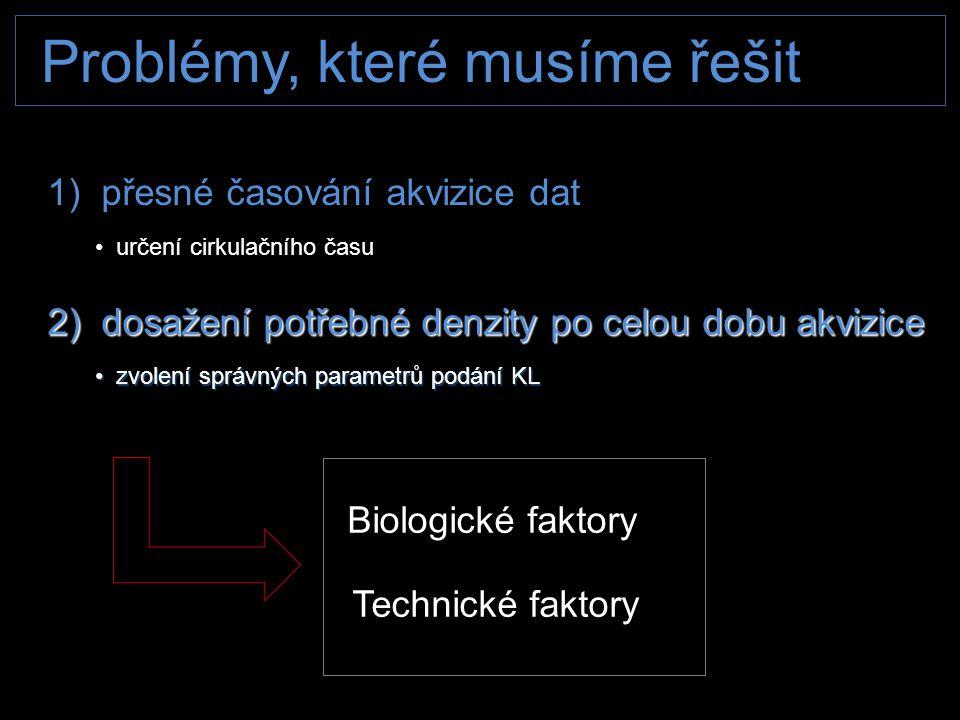 Problémy, které musíme řešit Biologické faktory Biologické faktory Technické faktory Technické faktory 1) přesné časování akvizice dat • určení cirkul