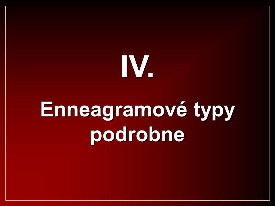 IV. Enneagramové typy podrobne IV. Enneagramové typy podrobne