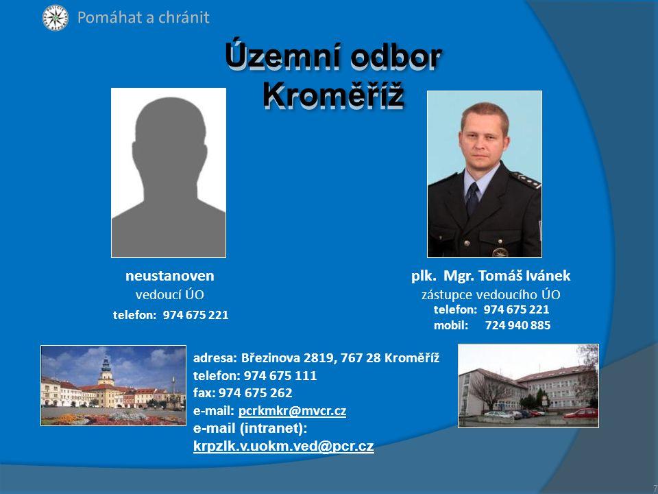 plk.JUDr. Bronislav Šabršula vedoucí ÚO plk. Ing.