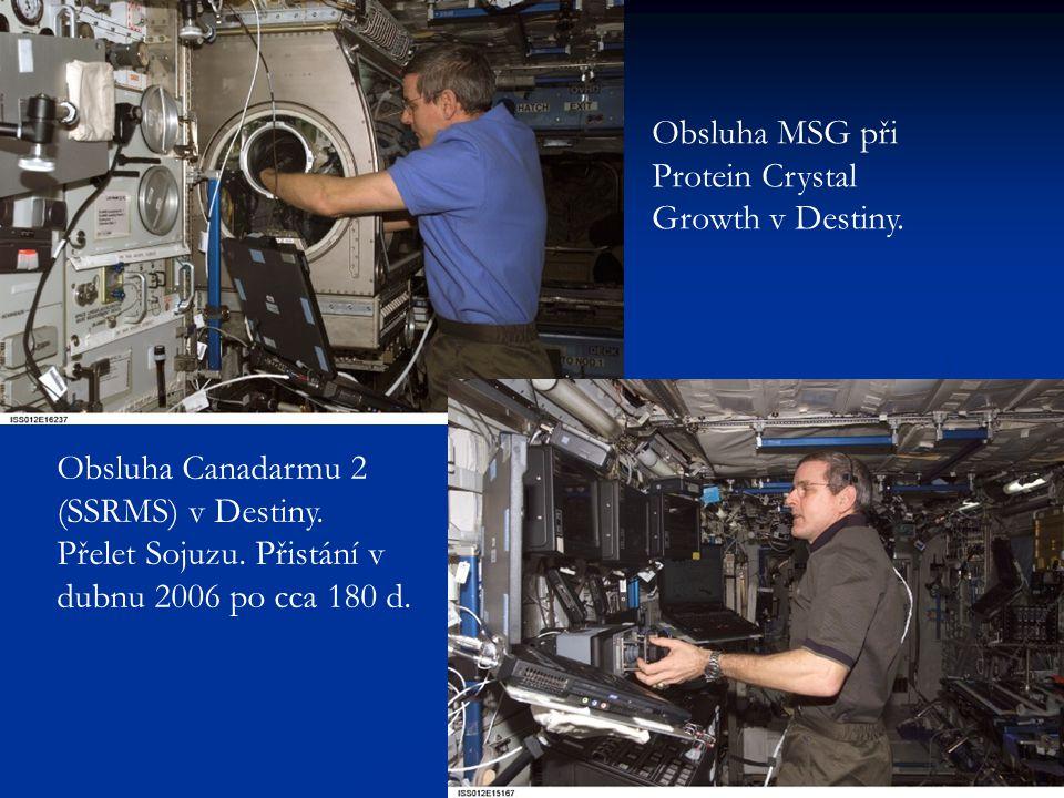 Obsluha MSG při Protein Crystal Growth v Destiny. Obsluha Canadarmu 2 (SSRMS) v Destiny. Přelet Sojuzu. Přistání v dubnu 2006 po cca 180 d.
