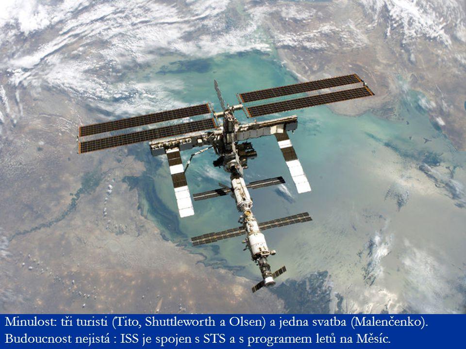 Minulost: tři turisti (Tito, Shuttleworth a Olsen) a jedna svatba (Malenčenko). Budoucnost nejistá : ISS je spojen s STS a s programem letů na Měsíc.