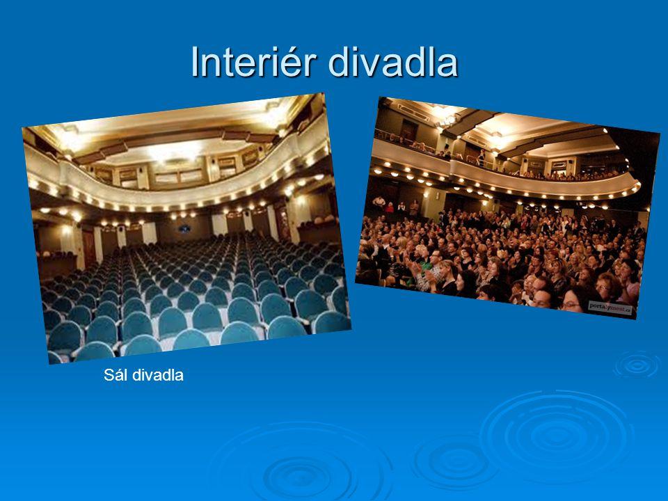 Interiér divadla Sál divadla