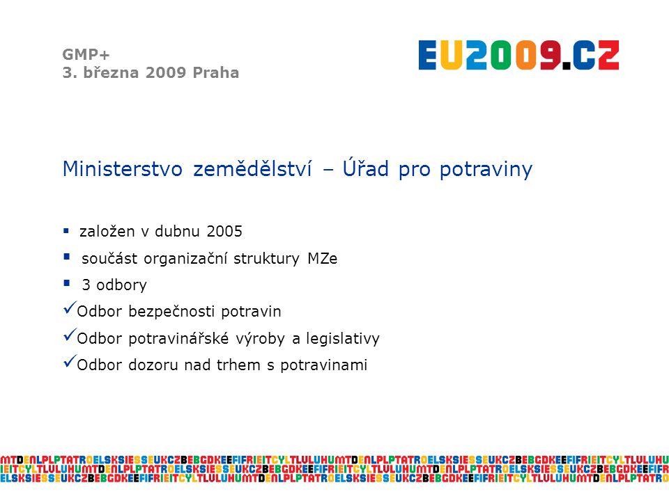 Vědecké panely EFSA GMP+ 3.