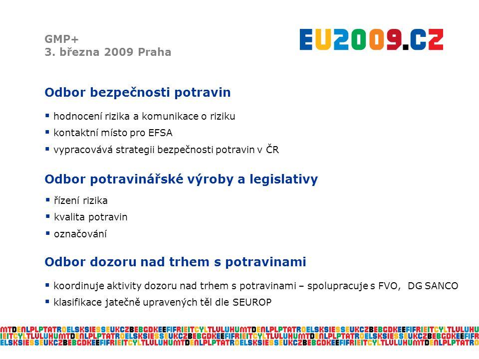 Možnosti spolupráce s EFSA GMP+ 3.