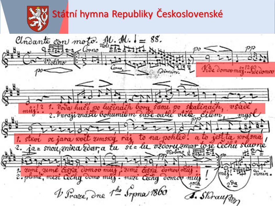 Historická vlajka Čech (vlajka Československa 1918 – 1920) Trikolóra