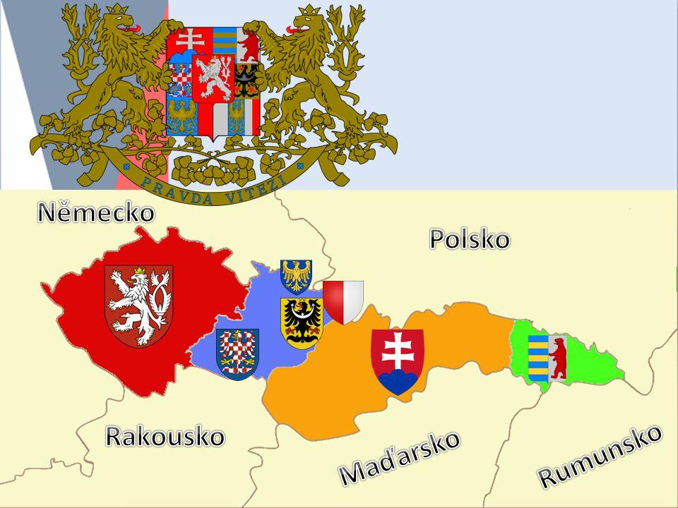 Hranice ČSR Čechy, Morava, Slezsko = historické země českého království Slovensko = bývalá část Uherska (Horní Uhry) Podkarpatská Rus = nejzaostalejší