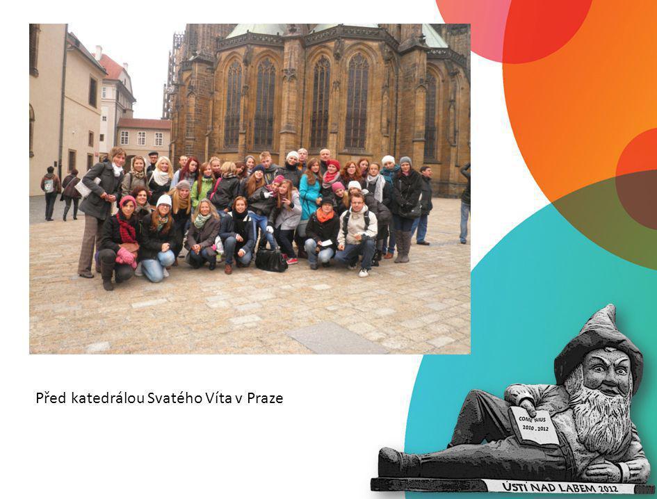 Před katedrálou Svatého Víta v Praze