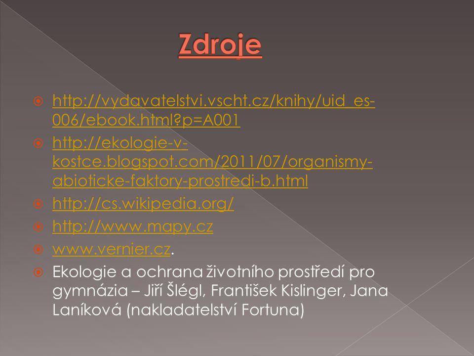  http://vydavatelstvi.vscht.cz/knihy/uid_es- 006/ebook.html?p=A001 http://vydavatelstvi.vscht.cz/knihy/uid_es- 006/ebook.html?p=A001  http://ekologi