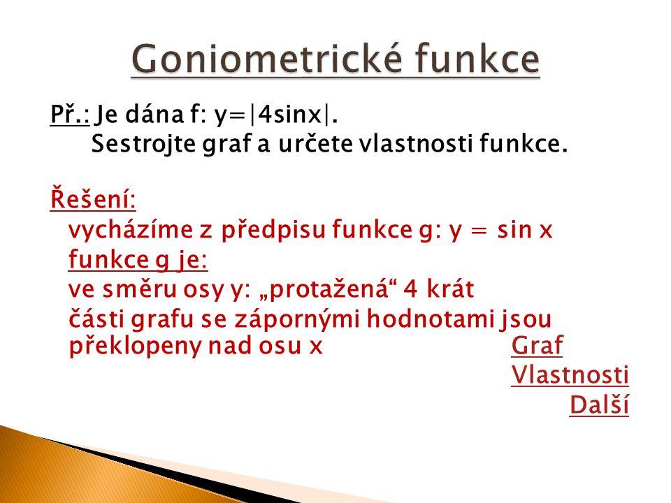 f:y=∣4 sin x∣, (g:y=sin x), zadání, vlastnostizadánívlastnosti