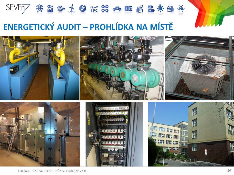 ENERGETICKÉ AUDITY A PRŮKAZY BUDOV V ČR 26 ENERGETICKÝ AUDIT – PROHLÍDKA NA MÍSTĚ 26