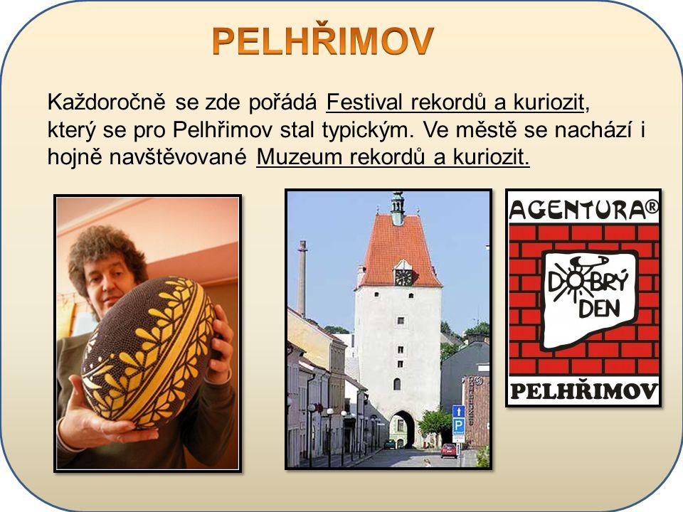 Každoročně se zde pořádá Festival rekordů a kuriozit, který se pro Pelhřimov stal typickým. Ve městě se nachází i hojně navštěvované Muzeum rekordů a