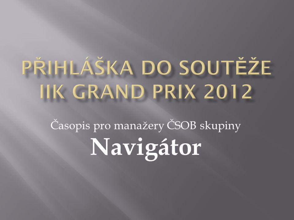 Časopis pro manažery ČSOB skupiny Navigátor