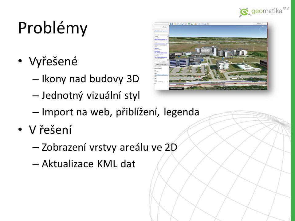 • Doplnění zbývajících budov areálu do 3D • Zobrazení v mobilních zařízení Android, iOS • Navigace cesty do učeben pomocí aplikace v mobilu po vzoru NTNU Rozšiřitelnost práce
