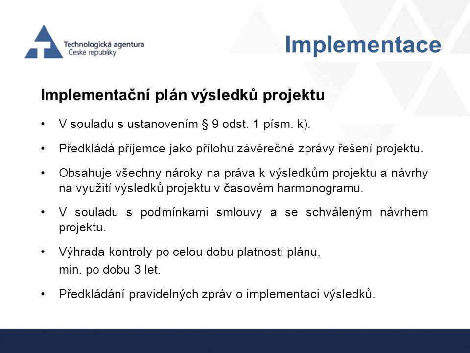 Ostatní Provozní náklady/výdaje  Musí vzniknout v přímé souvislosti s řešením projektu (např.