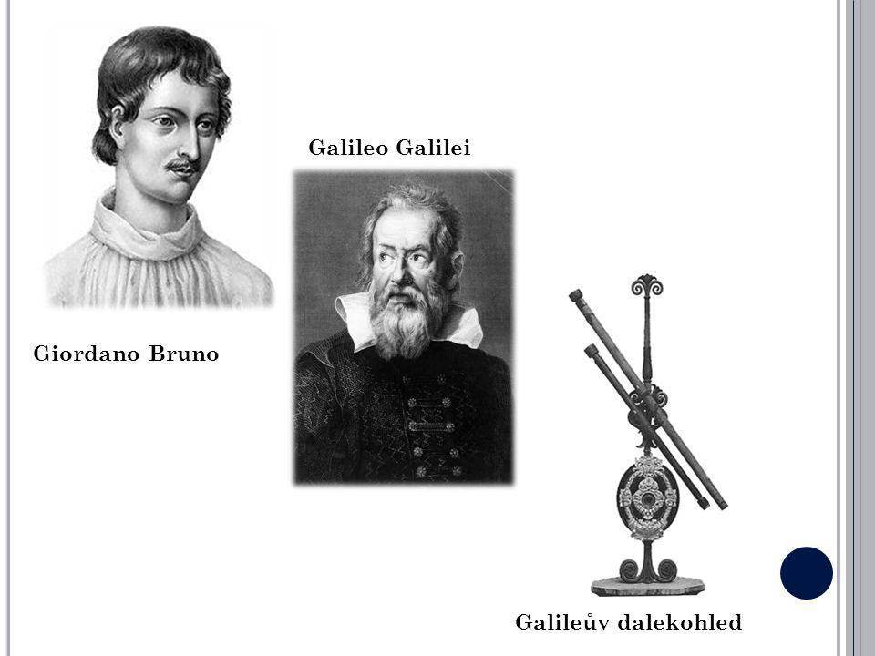 Giordano Bruno Galileo Galilei Galileův dalekohled