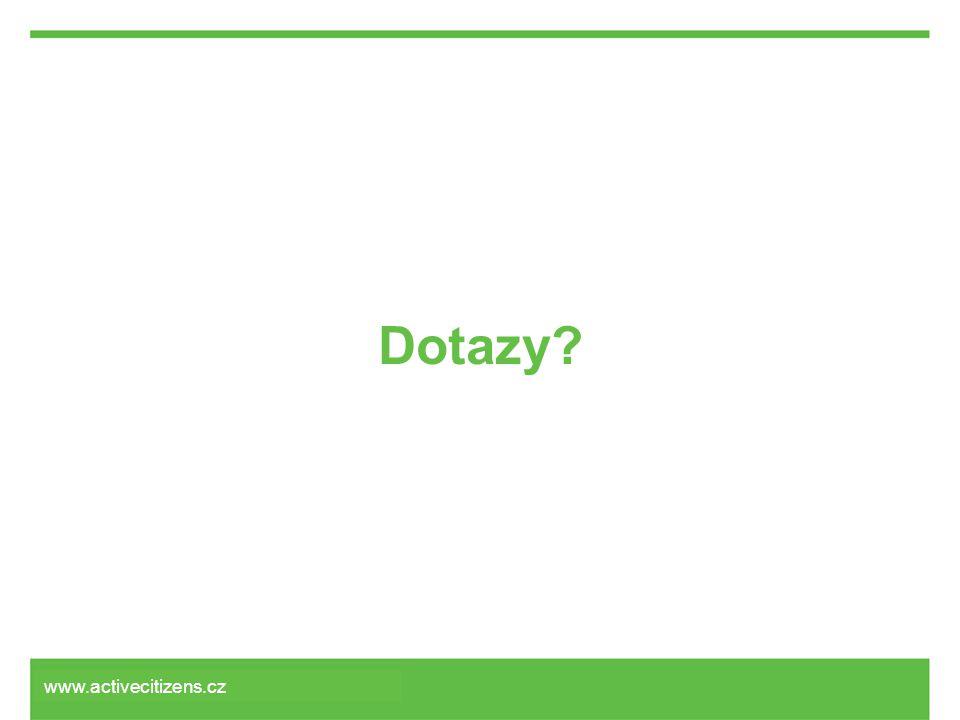 Dotazy? www.activecitizens.cz